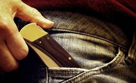 ポケットに入ったナイフ