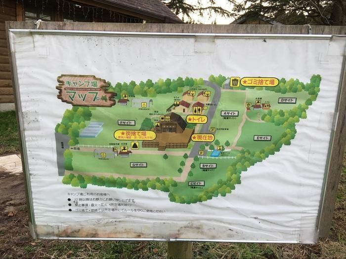 成田ゆめファミリーオートキャンプ場のマップ