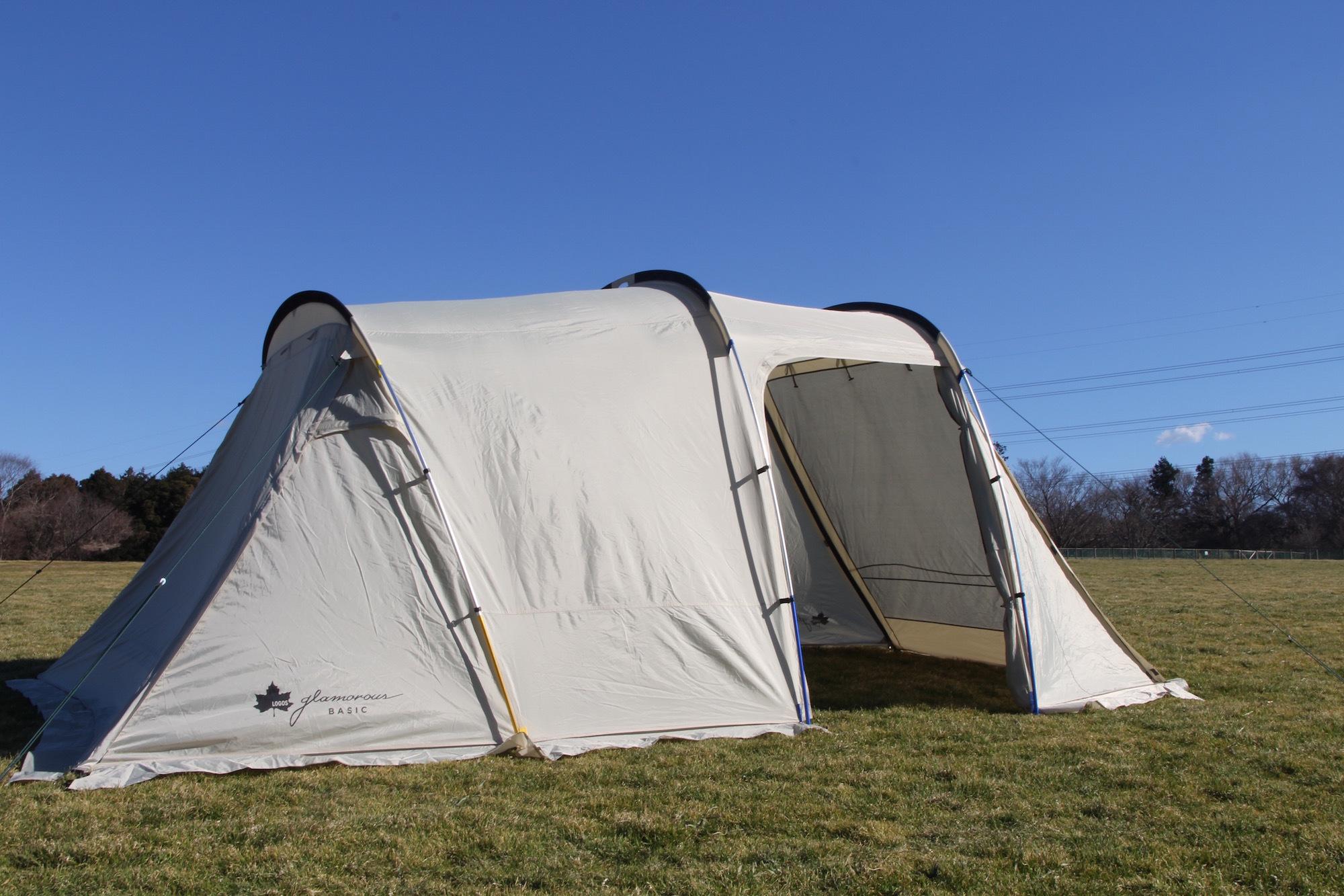 2017春新登場「ロゴス グランベーシック」を先取り!実際にテントを立ててみました!