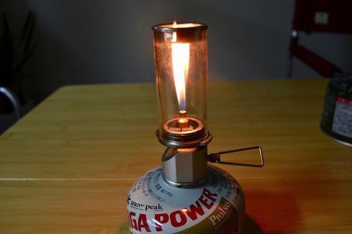 リトルランプ ノクターンのガス量を最大にした様子