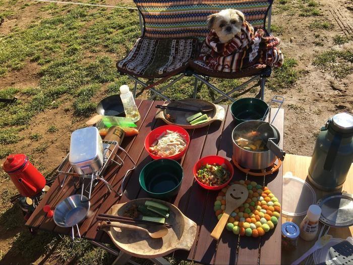 キャンプのご飯の様子