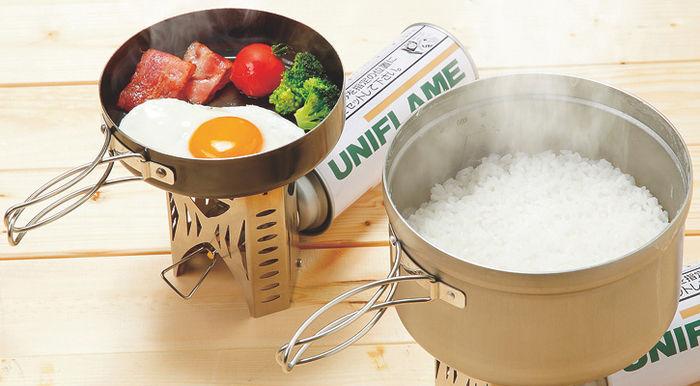 コッヘルで炊いたご飯