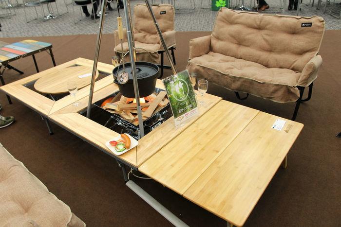 ロゴスの四角いBambooテーブル