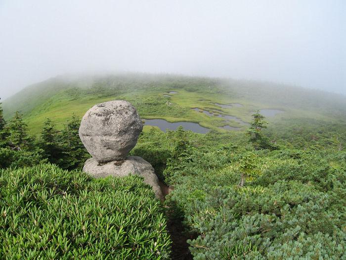 新潟県、平ヶ岳からの景色