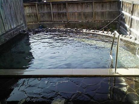 赤城山近くの露天風呂