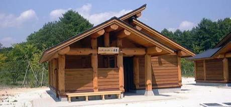 エコキャンプみちのくのキャンプ場のトイレ