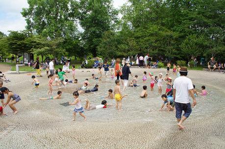 みちのく公園の中の水遊び場