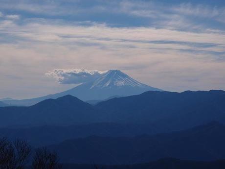 雲取山から見える富士山