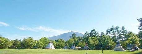 群馬県、北軽井沢スウィートグラスのキャンプ場