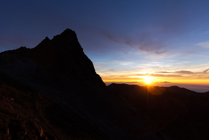 槍ヶ岳山荘から見える景色