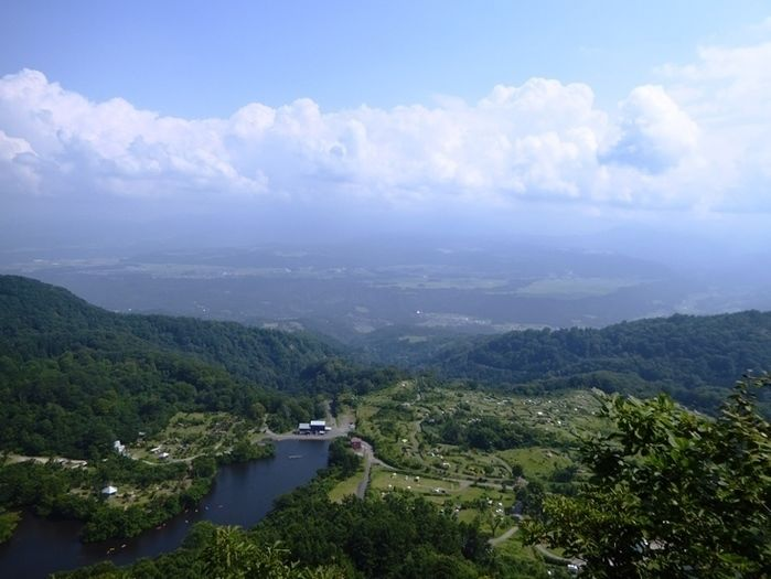 無印良品津南キャンプ場からの景色