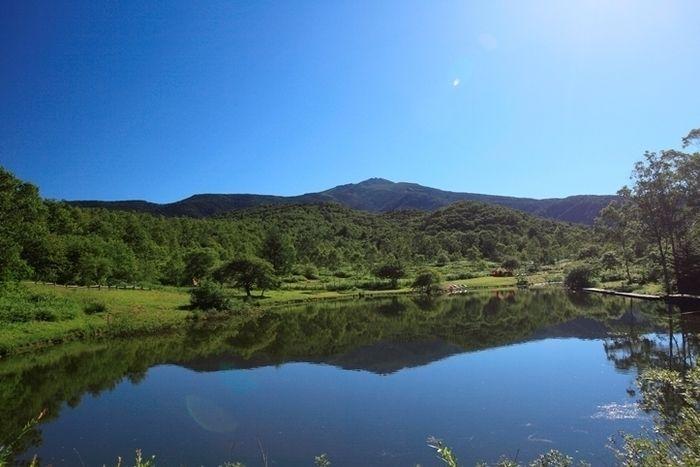 無印良品南乗鞍キャンプ場からの景色