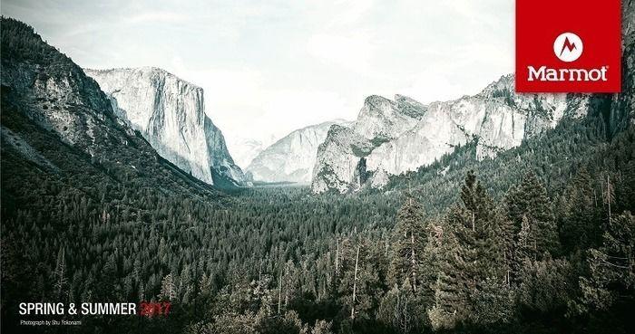 マーモットのロゴと山脈