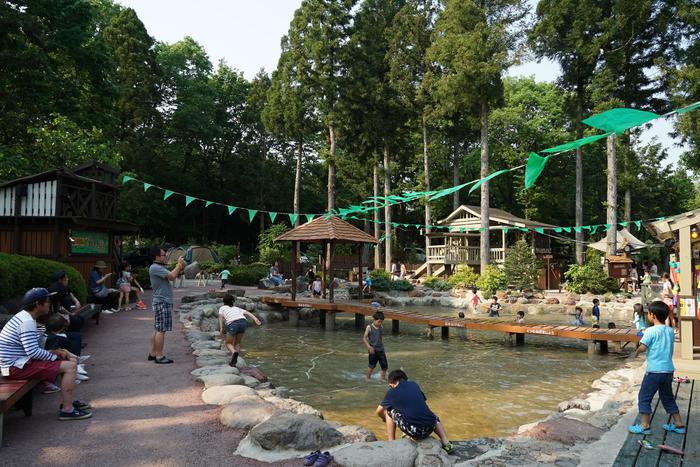 キャンプ・アンド・キャビンズのじゃぶじゃぶ池