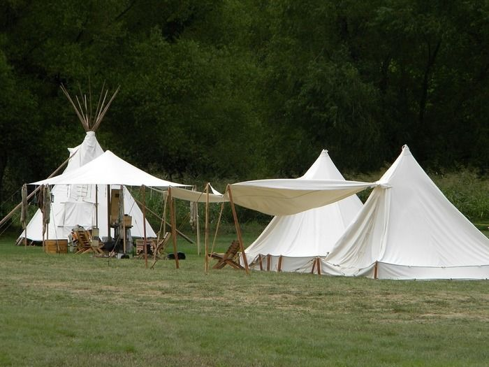 キャンプサイトの様子