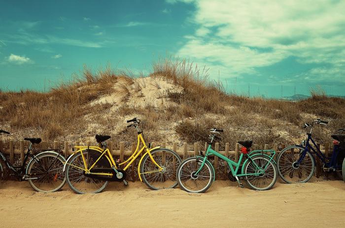 並べて停められた自転車