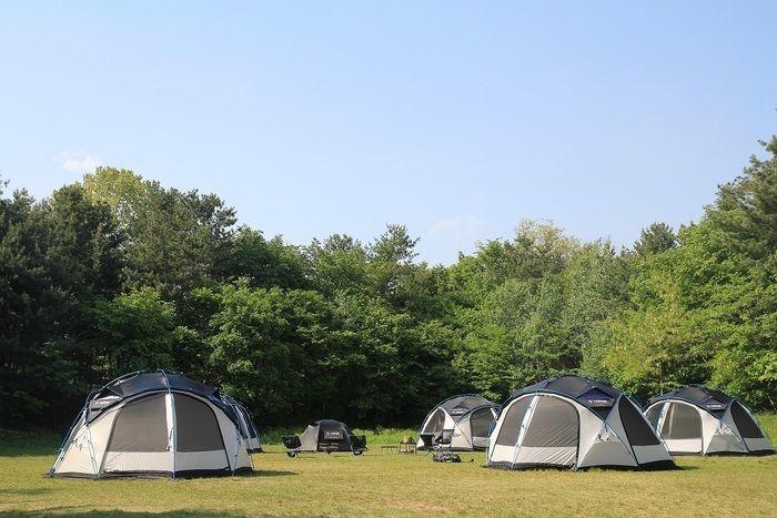 キャンプ場に並ぶノナドーム4.0