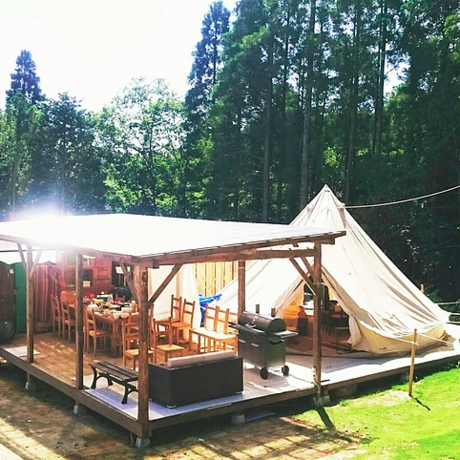 プライベートガーデンの森のフリーサイト