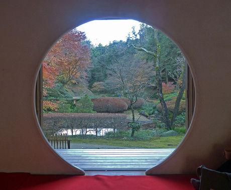 明月院で撮れる紅葉の景色