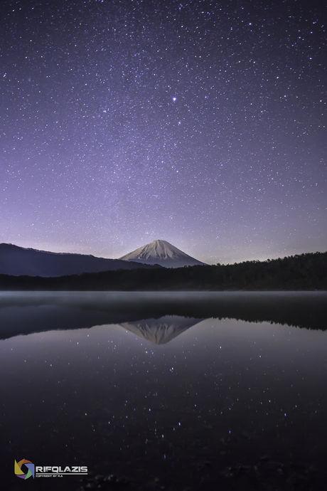 PICA富士西湖から見える星空