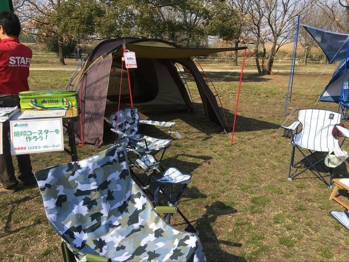 ロゴスのドーム型のテント