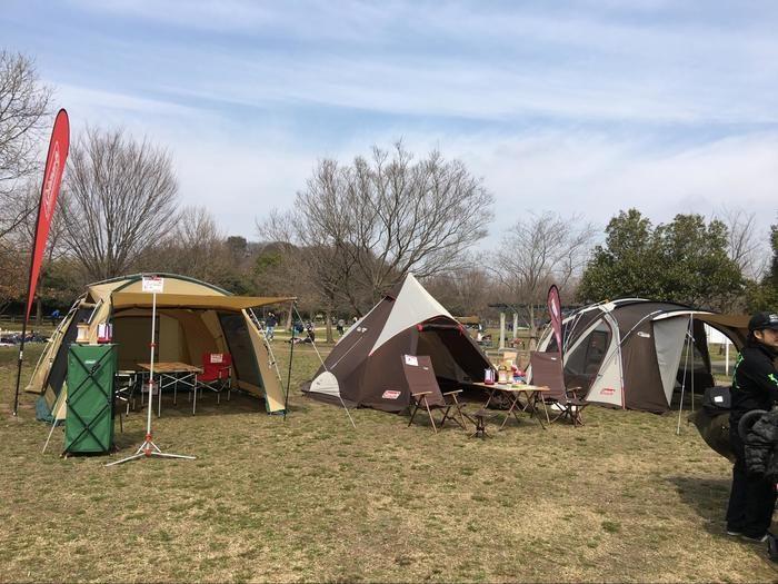 コールマンが展示しているテント