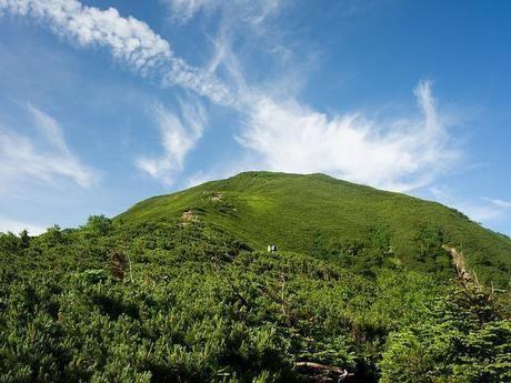 下から見た仙丈ヶ岳
