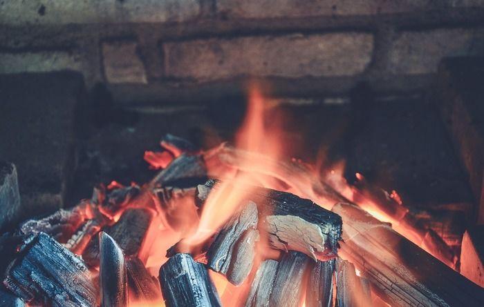 焚き火の様子