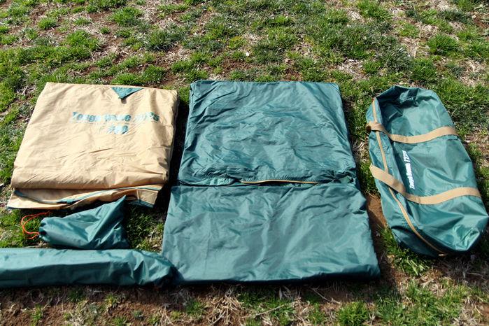 コールマンのドーム型テントのタフドームの道具の一覧