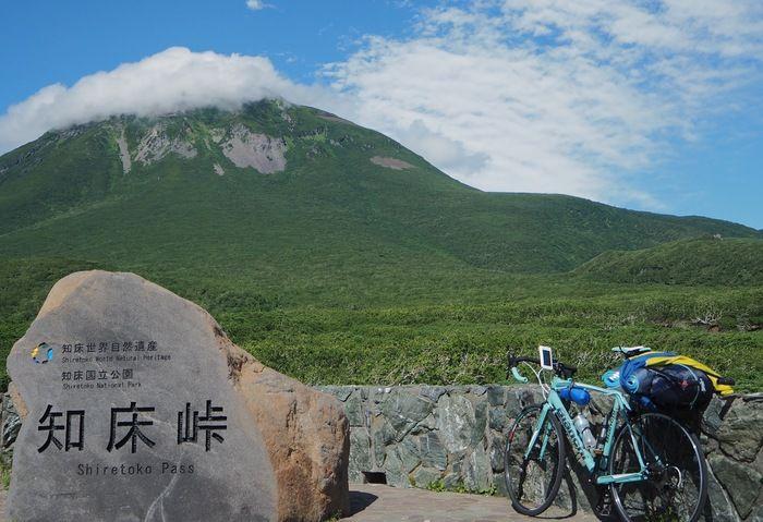 ロードバイクと知床峠