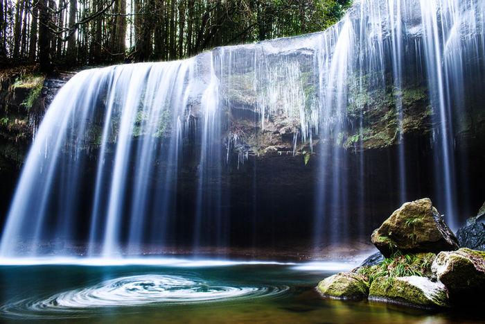 熊本県阿蘇郡の鍋ヶ滝
