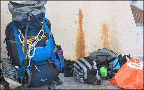 登山に持っていくバックパックと他の持ち物