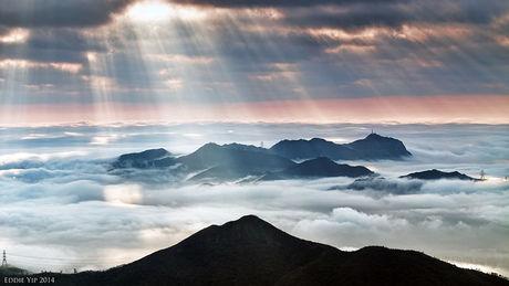 竹田城跡から見える雲海
