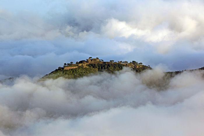 立雲峡から見た竹田城跡の雲海