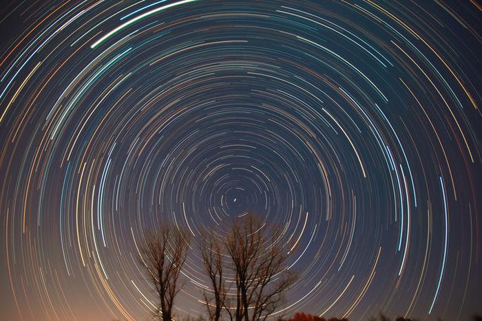 タイムラプスで撮った星空