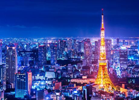 東京タワーが見える夜景