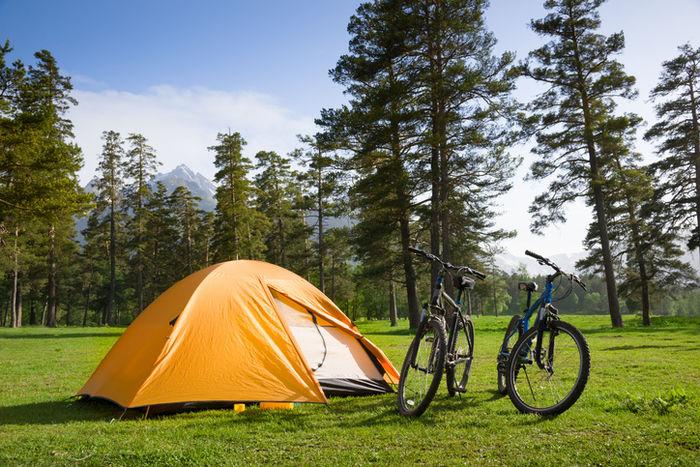 テントと自転車