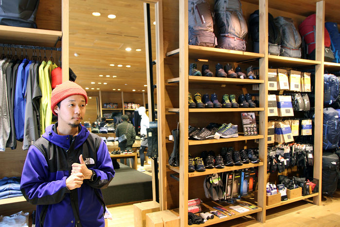 THE NORTH FACE 原宿店の谷山さん