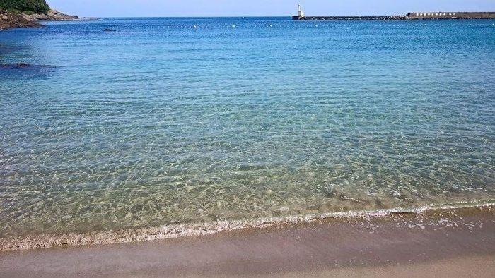 弁天浜キャンプ場の海