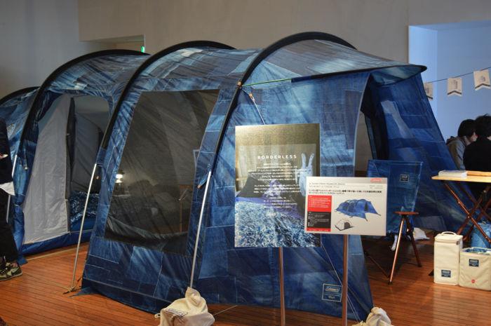 コールマンのインディゴレーベルのテント