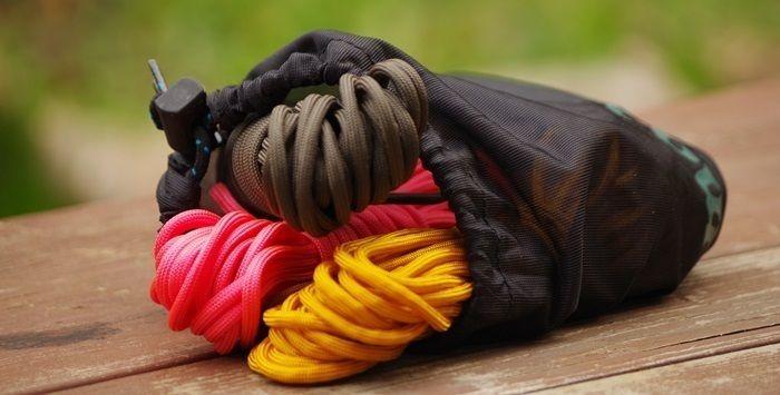 巾着袋式のスタッフバッグ