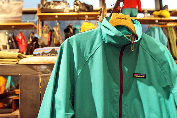 パタゴニアのジャケット売り場