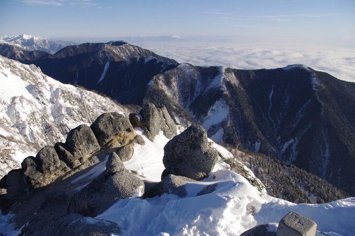 北アルプスの山脈