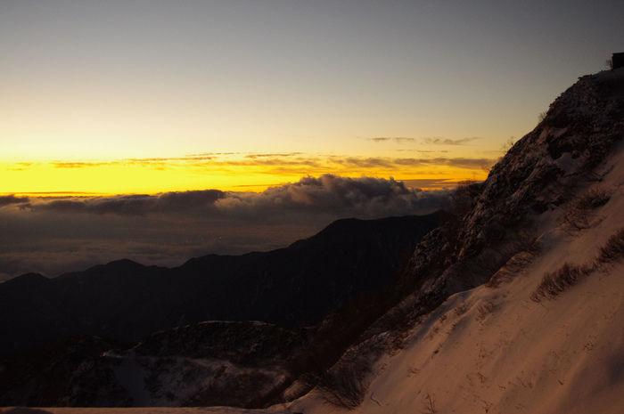 槍ヶ岳から見える景色