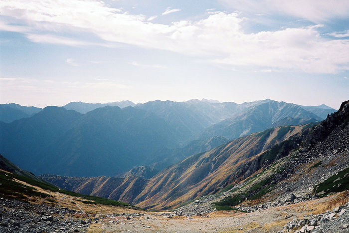 立山から見える山々