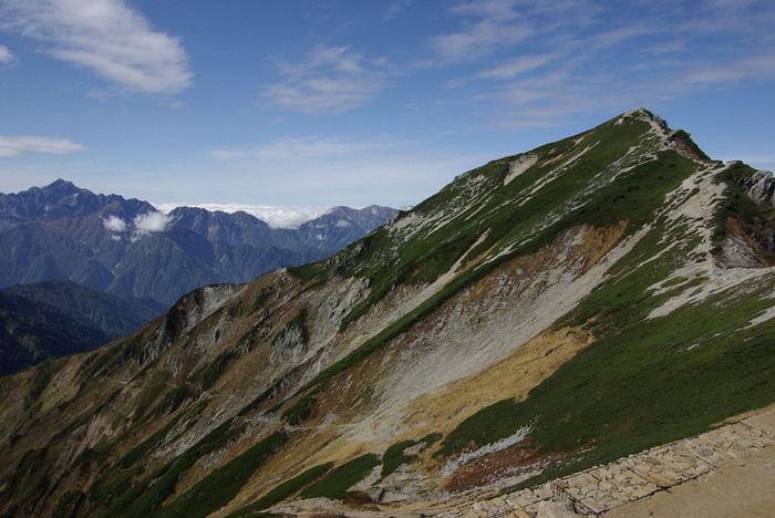 唐松岳から見える山々