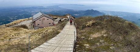 鳥取県の大山の登山道