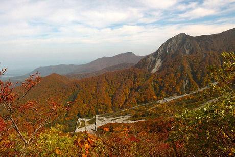 紅葉した鳥取県の大山