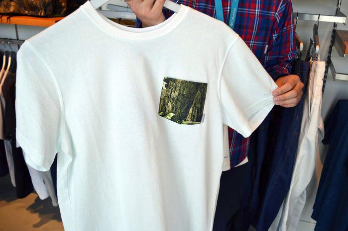 コロンビアのTシャツ、ポーラーパイオニアハンティングパターンドショートスリーブクルー