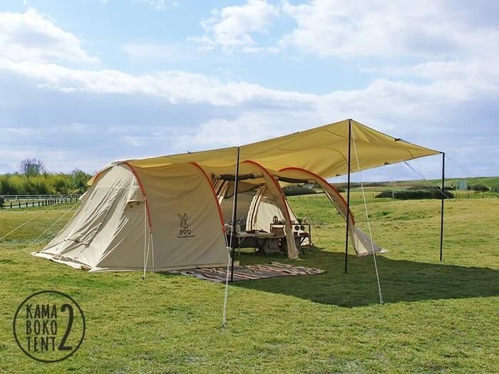 『ドッペルギャンガー』の大きいテント『カマボコテント2』